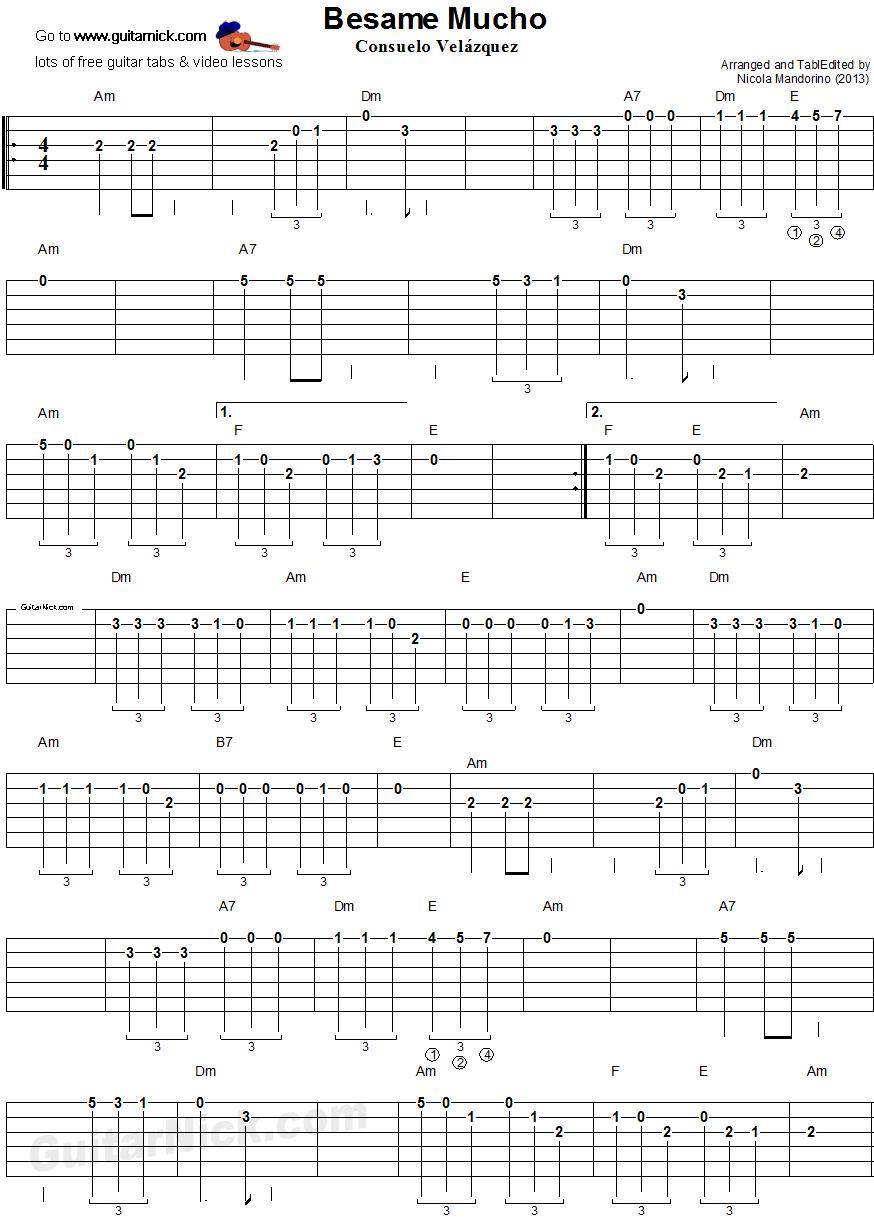 Beatles Besame Mucho Tabs Az Chords 2954700 Angrybirdsriogamefo